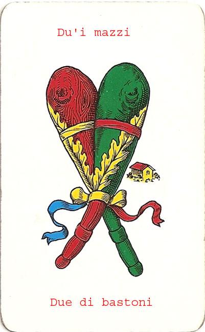 Carte da gioco siciliane gruppo folk aulos for Due di bastoni carte napoletane